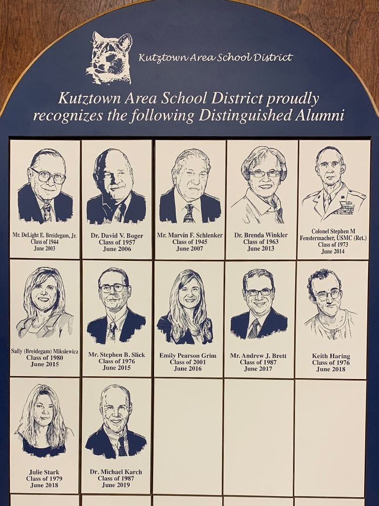 kutztown area school district's distinguised alumni