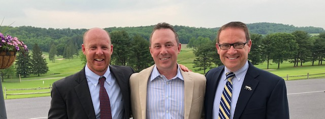 1987 classmates doctor michael karch, rob howard, and andrew brett